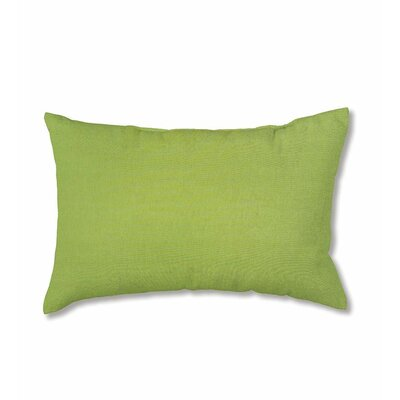 Classic Outdoor Lumbar Pillow Fabric: Leaf Green