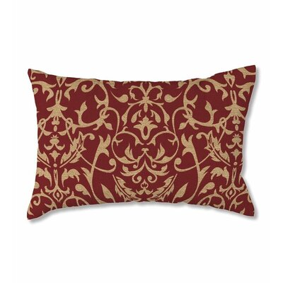 Polyester Classic Lumbar Pillow Color: Brick Scroll