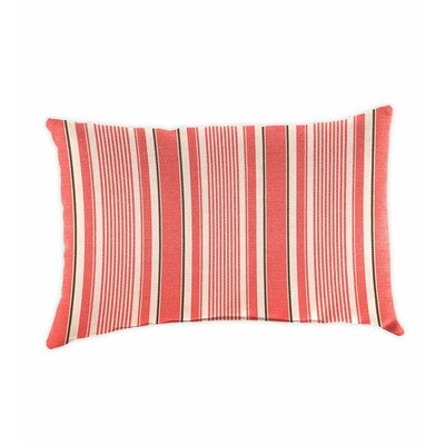 Polyester Classic Lumbar Pillow Color: Coral Ticking Stripe