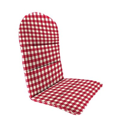 Outdoor Adirondack Cushions Color: Red Gingham