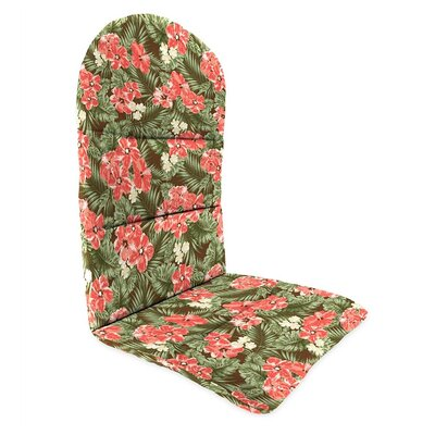 Outdoor Adirondack Cushions Color: Coral Hibiscus