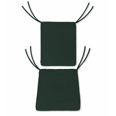 Outdoor Rocking Chair Cushions Color: Solid Forest Green