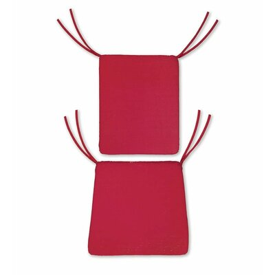 Outdoor Rocking Chair Cushions Color: Solid Red