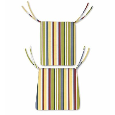 Outdoor Rocking Chair Cushions Color: Carnival Stripe