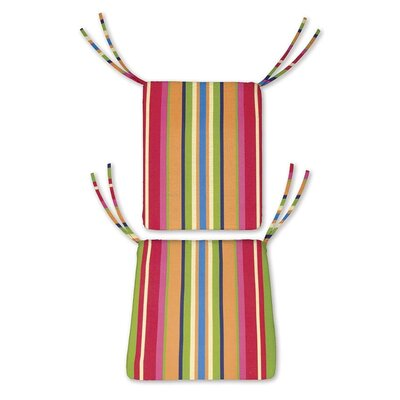 Outdoor Rocking Chair Cushions Color: Fiesta Stripe