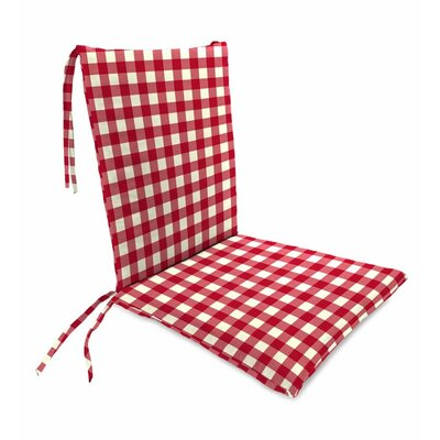 Outdoor Rocking Chair Cushions Color: Red Gingham