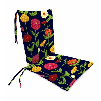 Outdoor Rocking Chair Cushions Color: Navy Zinnia