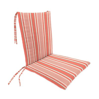 Outdoor Rocking Chair Cushions Color: Coral Ticking Stripe