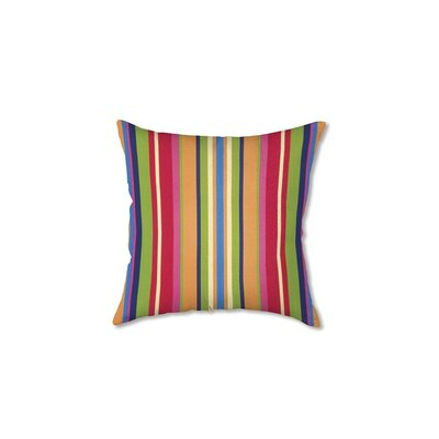 Polyester Classic Throw Pillow Fabric: Fiesta Stripe