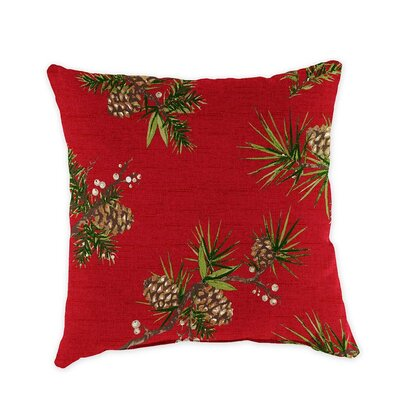 Classic Outdoor Throw Pillow Fabric: Pinecone Brick