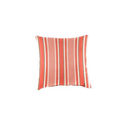 Polyester Classic Throw Pillow Fabric: Coral Ticking Stripe