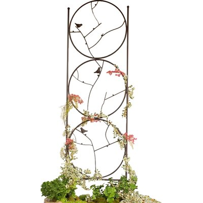 Circle of Birds Iron Gothic Trellis 53886