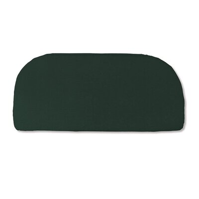 Classic Outdoor Bench Cushion Color: Solid Forest Green