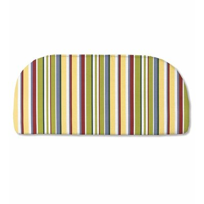 Classic Outdoor Bench Cushion Color: Carnival Stripe