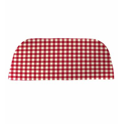 Classic Outdoor Bench Cushion Color: Red Gingham