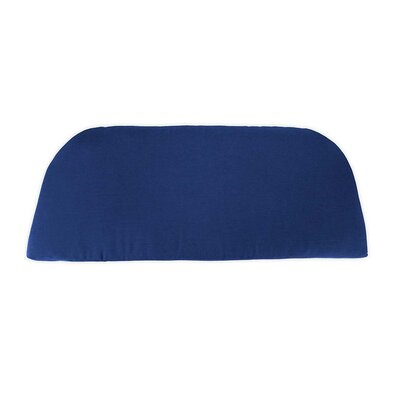 Classic Outdoor Bench Cushion Color: Solid Blue Cobalt