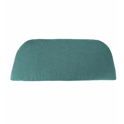 Classic Outdoor Bench Cushion Color: Solid Teal