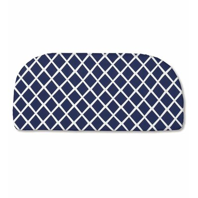 Classic Outdoor Bench Cushion Color: Navy Trellis