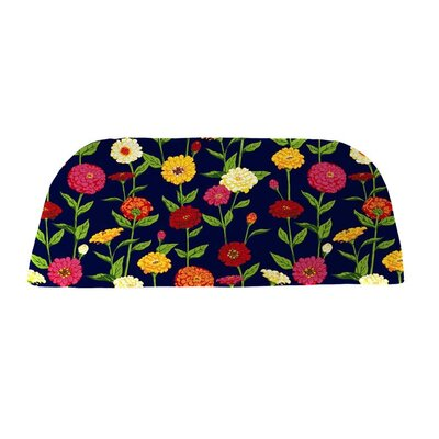 Classic Outdoor Bench Cushion Color: Navy Zinnia