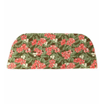 Classic Outdoor Bench Cushion Color: Coral Hibiscus