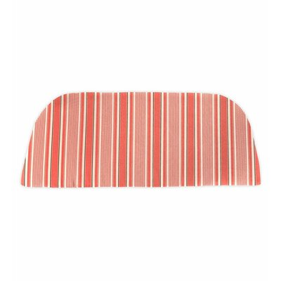 Classic Outdoor Bench Cushion Color: Coral Ticking Stripe