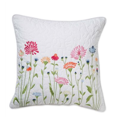 Emeline Floral Cotton Throw Pillow