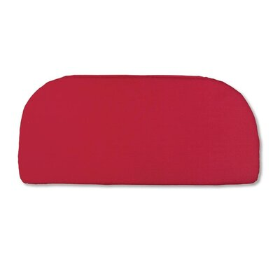 Classic Outdoor Bench Cushion Color: Solid Red