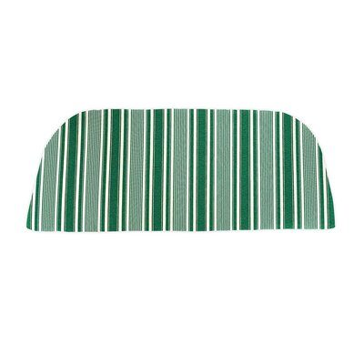 Classic Outdoor Bench Cushion Color: Green Ticking Stripe