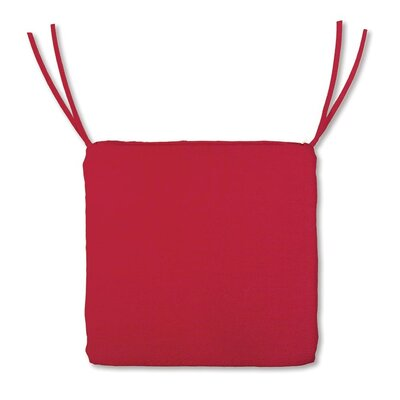 Outdoor Lounge Chair Cushion Color: Solid Red