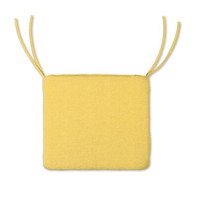 Outdoor Lounge Chair Cushion Color: Solid Butter