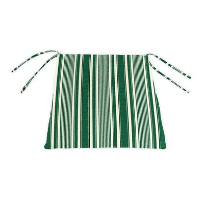 Outdoor Lounge Chair Cushion Color: Green Ticking Stripe