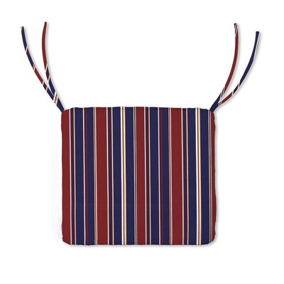 Outdoor Lounge Chair Cushion Color: Patriot Stripe
