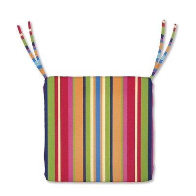Outdoor Lounge Chair Cushion Color: Fiesta Stripe