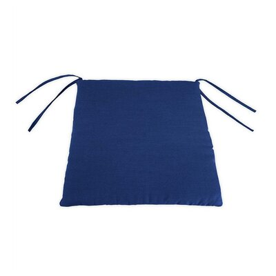 Outdoor Lounge Chair Cushion Color: Solid Cobalt Blue