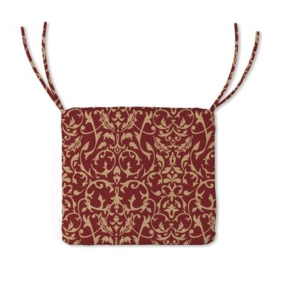 Outdoor Lounge Chair Cushion Color: Brick Scroll