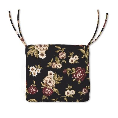 Outdoor Lounge Chair Cushion Color: Black Floral