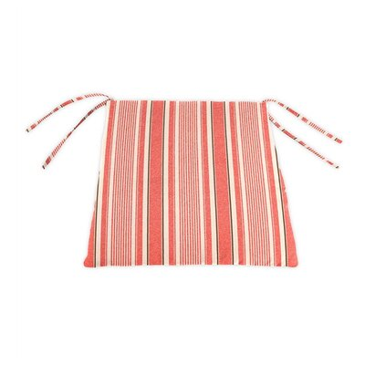 Outdoor Lounge Chair Cushion Color: Coral Ticking Stripe