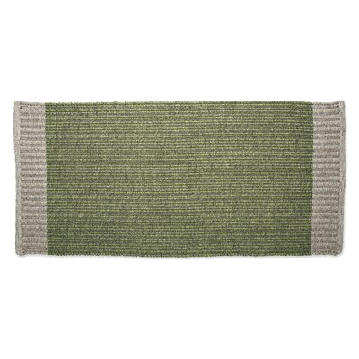 Heathered Woven Doormat Color: Green