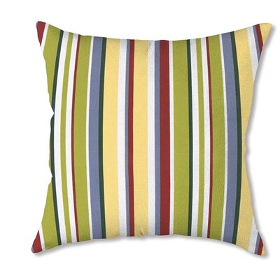 Classic Throw Pillow Color: Carnival Stripe