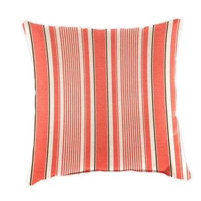 Classic Throw Pillow Color: Coral Ticking Stripe