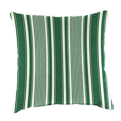 Classic Throw Pillow Color: Green Ticking Stripe