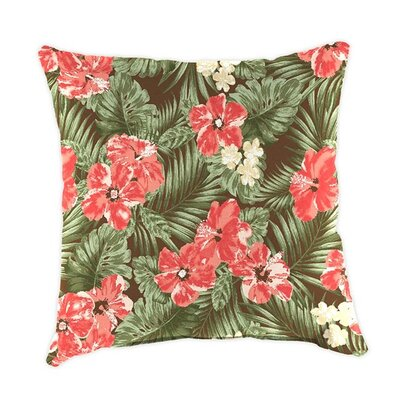 Classic Throw Pillow Color: Coral Hibiscus