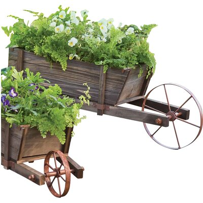 Wood Wheelbarrow Planter 64271