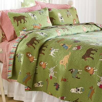 Doggone Good Time Quilt Set Size: Twin