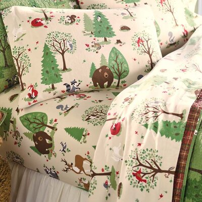 100% Cotton Flannel Sheet Set Size: Queen