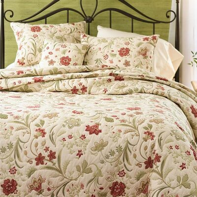 Jacobean Cotton 3 Piece Vine Quilt Set Size: King