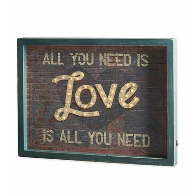 """Love Is All You Need"""" Textual Art 58A02"""
