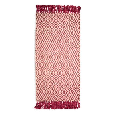 Hand-Woven Red Area Rug Rug Size: Rectangle 8 x 11