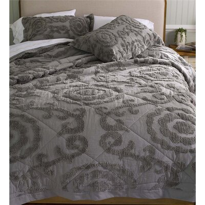3 Piece Comforter Set Color: Gray, Size: King