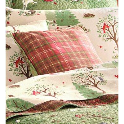 Woodland Cotton Throw Pillow
